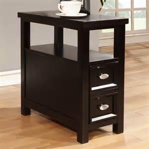 Black End Tables Black Finish 1 Drawer Wooden End Table Contemporary Side Tables And End Tables By