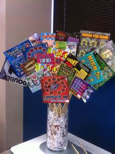 Creative Vase Filler Ideas Basket Idea Scratch Off Lottery Tickets Basket Ideas