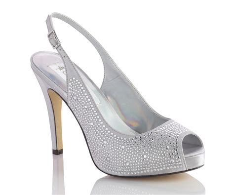Silver Wedding Shoes by Rhinestone Silver Bridal Shoes And Silver Wedding Shoes