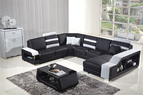 divani casa t356 modern black white bonded leather