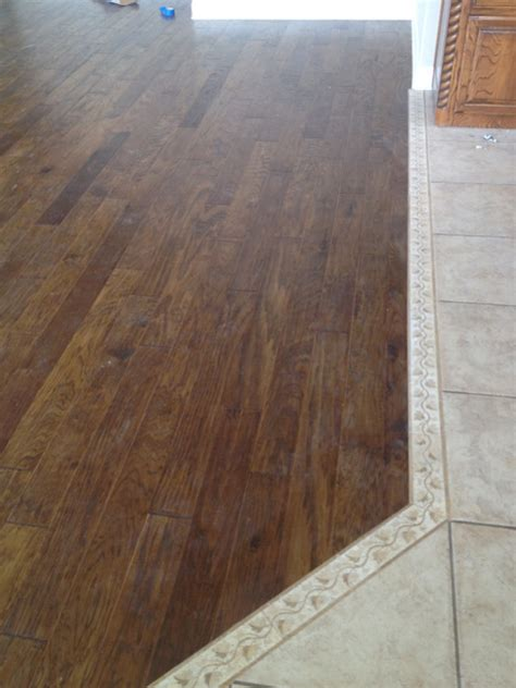 wood to tile transition tile to hardwood transition flooring contractor talk