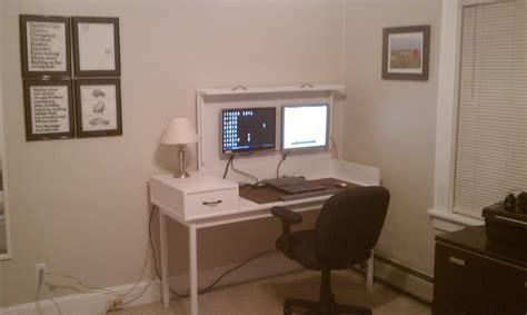 hidden computer monitor desk gaming desks folding desk desks and gaming desk