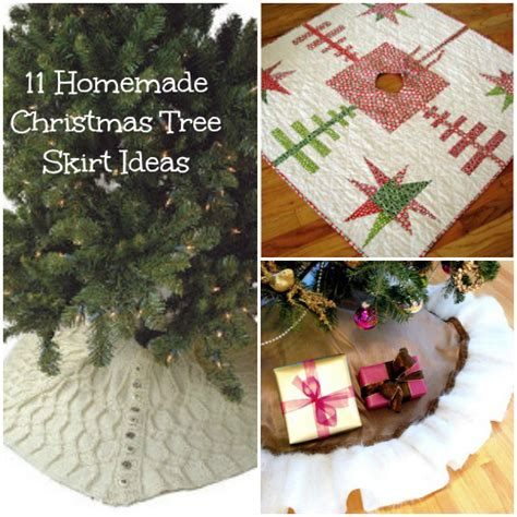 11 homemade christmas tree skirt ideas