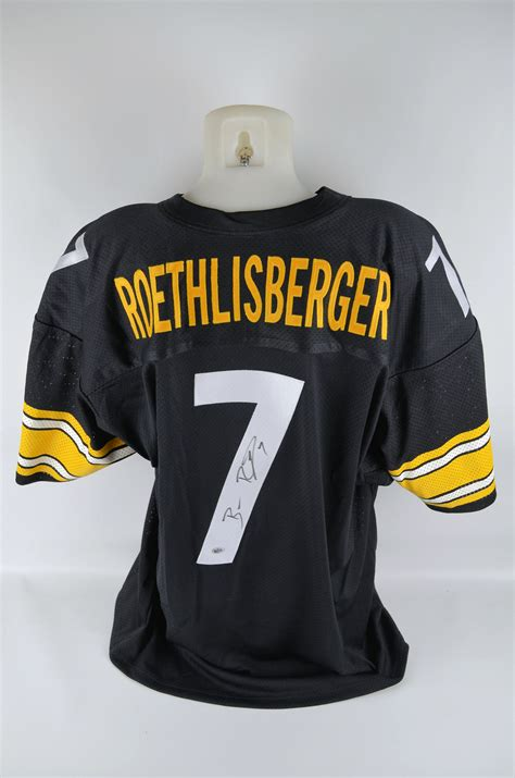 steelers jersey lot detail ben roethlisberger autographed pittsburgh steelers jersey