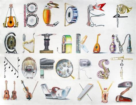 Musical Instrument Repair Cover Letter by Each Letter Of This Musical Alphabet Contains Musical Instruments That Start With Only That