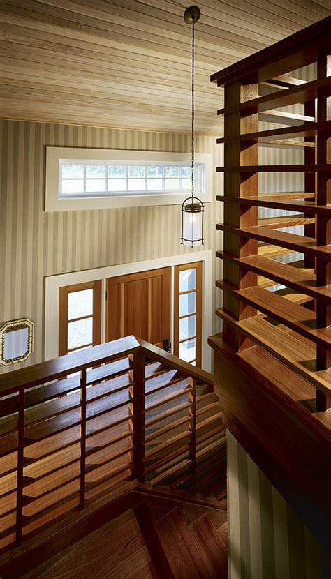 Wood Stair Railing Choosing The Stair Railing Design Style