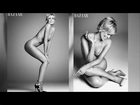 Sharon Stone Goes Completely Naked For Harper S Bazaar Youtube