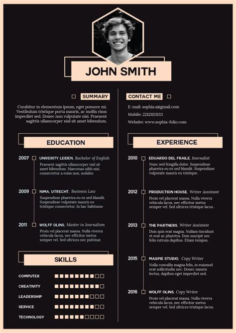 Profile In Resume Example by Adobe Illustrator Tutorial How To Create An Impressive Cv