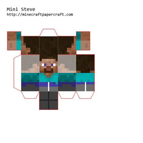 Pixel Papercraft Steve - papercraft mini steve classic
