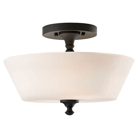Flush Mount Semi Flush Light Fixtures Peyton Black Two Light Indoor Semi Flush Mount Fixture Feiss Semi Flush Flush Semi Flush