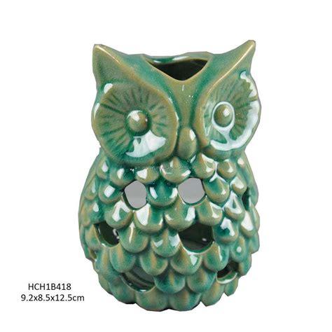 Gw Se F Green Owl supporto di ceramica di canlde gufo verde bello hch1b418 supporto di ceramica di canlde