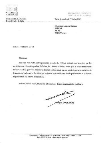 Demande De Permission Lettre Sida Et Prison Lettre Ouverte Au President Francois Hollande Vue Sur La Prison