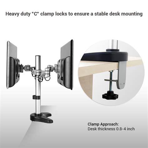 dual monitor arm desk mount monitor arm desk mount whitevan