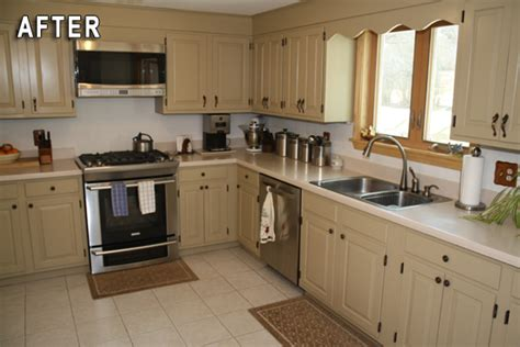 transform kitchen cabinets rustoleum kitchen cabinet transformations after photo