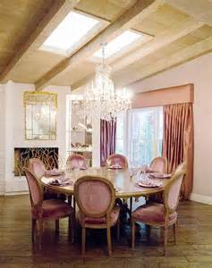 Pink Dining Room Chairs pink french dining rooms transitional dining room