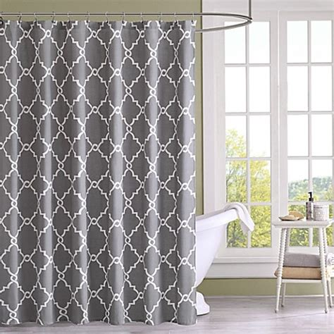 bed bath and beyond saratoga buy madison park saratoga printed shower curtain in grey from bed bath beyond
