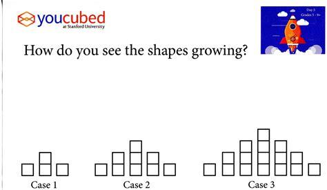 growing pattern using shapes mrs warren math on team vista september 2015