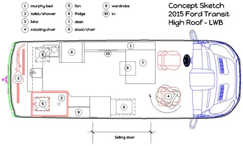 conversion van floor plans cargo van conversion the conversion plans