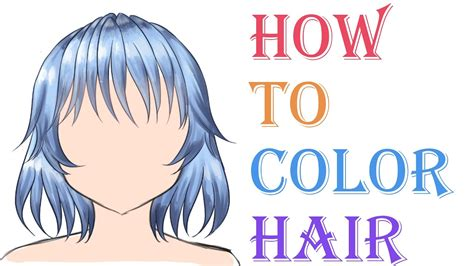 how to color anime tutorial how to color anime hair digitally 3