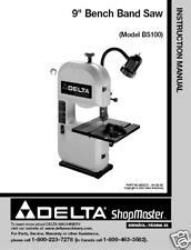 Copy Of Manual For Minimax S45 Bandsaw Ebay