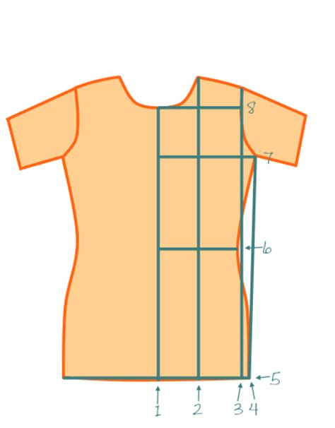 t shirt pattern measurements how to basic fitted t shirt make