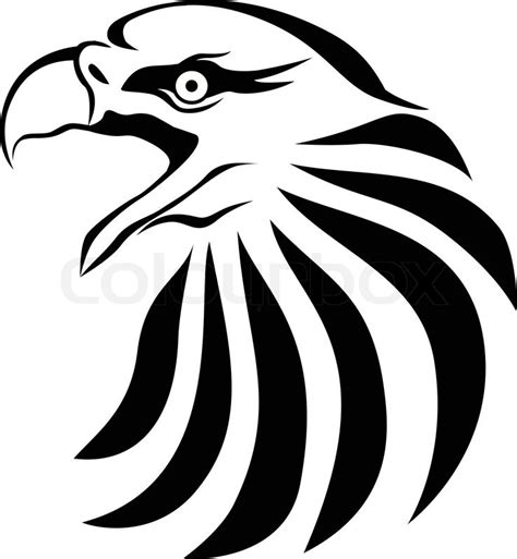 eagle head stock vector colourbox