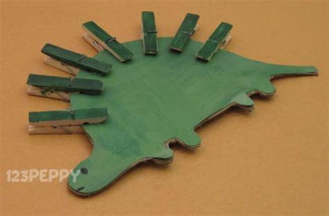 Handmade Dinosaur - handmade dinosaur craft with clothing pins crafts for