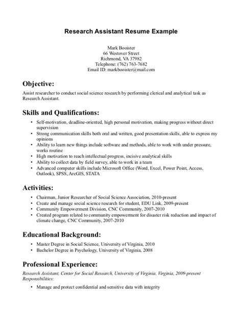 resume research scientist sle