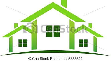 casa clipart clip arte vetorial de casas verde logotipo green