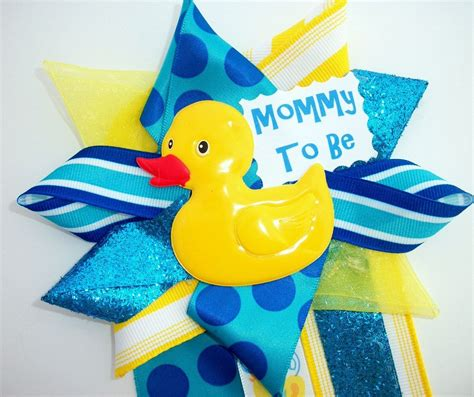 rubber duck decorations rubber ducky baby shower corsage ready to ship by