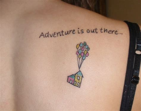 adventure is out there tattoo completely awesome disney tattoos part of your world guff