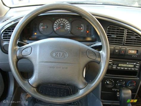 2003 Kia Spectra Interior 2003 Kia Spectra Sedan Grey Steering Wheel Photo 61172263
