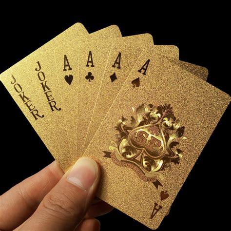 Set Cardi Pokego golden cards deck gold foil set magic card