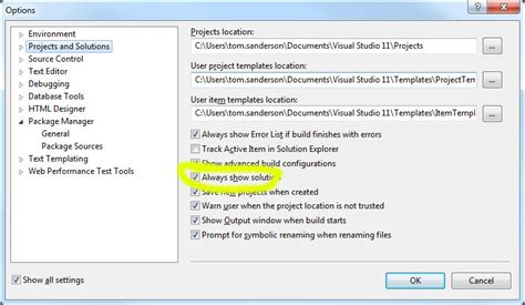 reset visual studio to factory settings visual studio 2010 nuget don t see allow nuget to
