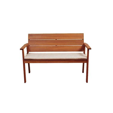 eucalyptus bench vifah atlantic eucalyptus herringbone back patio bench