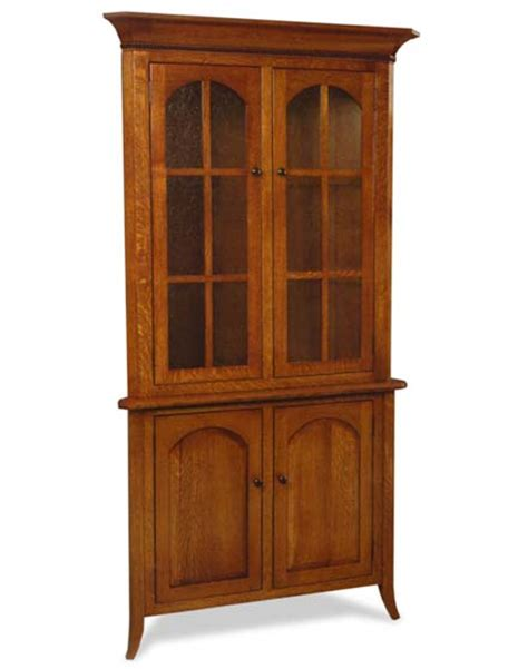 bunker hill door corner hutch amish dining room