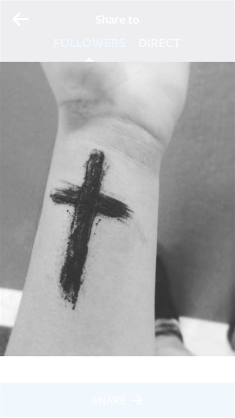 black tattoo cross wrist cross black ideas