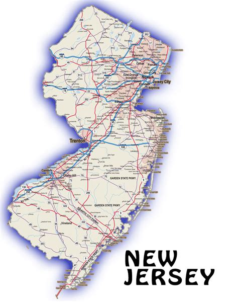 map new jersey new jersey detailed map swimnova