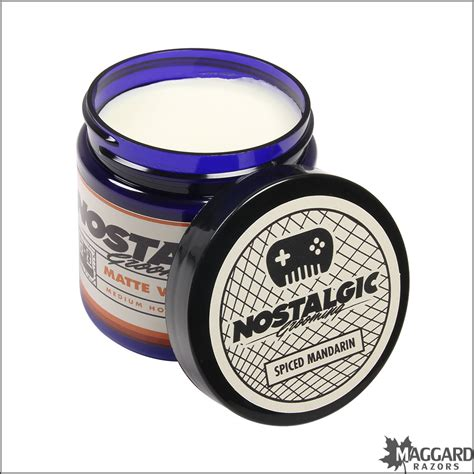 Grizzfellas Pomade White Jar nostalgic grooming spiced mandarin matte water based pomade 4oz maggard razors traditional