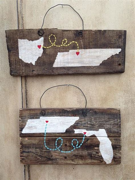 pallet crafts projects small rustic state to state pallet wish list