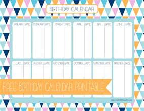 free printable birthday calendar template free birthday calendar creative