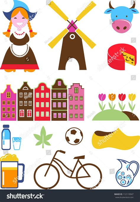 netherlands map icon collection of vector netherlands icons 112119947