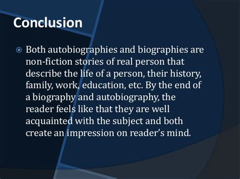 autobiography and biography are the same in that biography and autobiography in social sciences