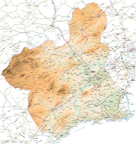 mapa mudo rios region de murcia