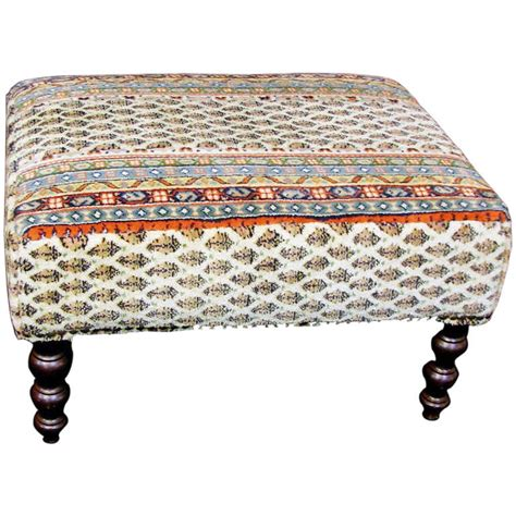 Tapestry Ottoman Vintage George Smith Tapestry Upholstered Ottoman Or Stool At 1stdibs
