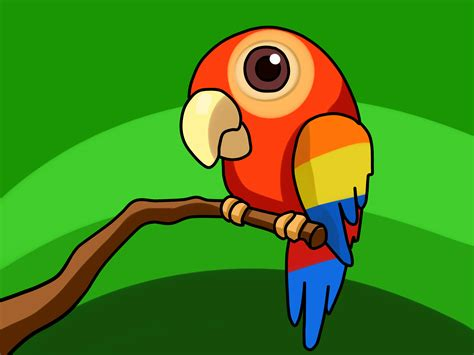 Drawn software parrot pencil and in color drawn software parrot