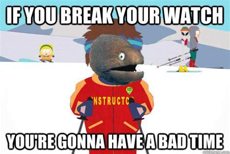 Ski Instructor Meme - bad joke eel ski instructor