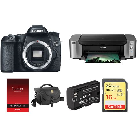 eos 70d dslr canon eos 70d dslr kit with pixma pro 100 inkjet