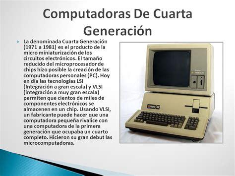 cuarta generacion fundamento computador ppt descargar