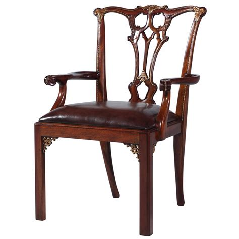 Arm Chairs Dining Chippendale Style Mahogany Dining Arm Chair Dining Chairs From Brights Of Nettlebed